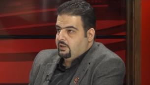 عضو مجلس مدينة حيفا رجا زعاترة من القائمة العربية المشتركة. (لقطة شاشة: يوتيوب)