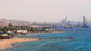 صورة توضيحية لمدينة إيلات الساحلية  (Jorge Novominsky/Flash90)