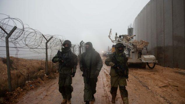 الجيش الإسرائيلي يحفر في الارض جنوب الحدود اللبنانية بمحاولة للعثور على انفاق هجومية تابعة لحزب الله وتدميرها، 8 ديسمبر 2018 (Israel Defense Forces)