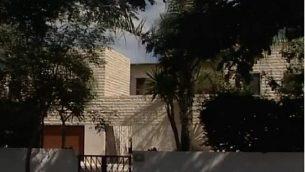 مقر إقامة رئيس الوزراء بنيامين نتنياهو الخاص في قيساريا. (لقطة شاشة: القناة 10)