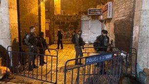موقع هجوم الطعن في القدس، 13 ديسمبر، 2018.  (Police Spokesperson)
