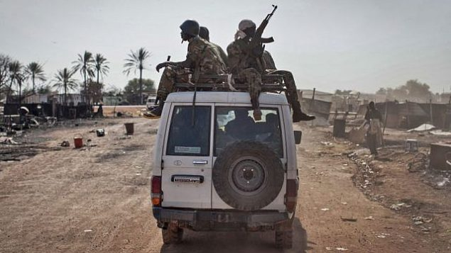 قوات حكومة جنوب السودان، 12 يناير 2014 (AP/Mackenzie Knowles-Coursin, File)