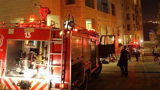 توضيحية: مركبة إطفاء في القدس، 18 سبتمبر، 2010. (Yossi Zamir/Flash 90)