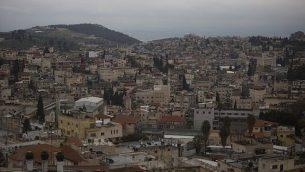 منظر لمدينة الناصرة العربية الإسرائيلية الشمالية، في 26 يناير 2016. (Lior Mizrahi/Flash90)
