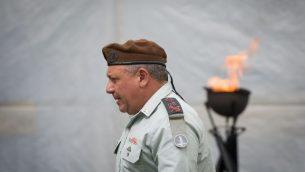 رئيس هيئة اركان الجيش خلال مراسيم الذكرى الخمسين لحرب 1967، في جبل هرتسل، القدس، 24 مايو 2017 (Miriam Alster/Flash90)