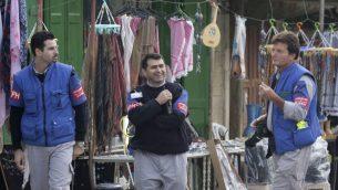 صورة توضيحية: مراقبو التواجد الدولي المؤقت في الخليل في شوارع الخليل، 19 نوفمبر 2007 (Nati Shohat/Flash90)