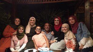 عائشة ويعقوب الرابي مع بناتهم. (Courtesy)