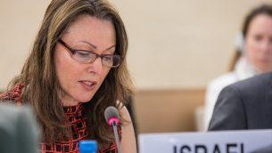 افيفا راز شختر، سفيرة اسرائيل لوكالات الامم المتحدة في جنيف (Elma Okic/UN Photo)