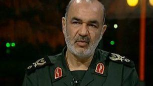 نائب قائد الحرس الثوري الإيراني جسين سلامي (YouTube screen capture)