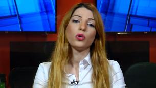 ديما تايه العربية الإسرائيلية، التي ترشحت لانتخابات حزب الليكود التمهيدية، خلال مقابلة مع قناة حداشوت، 8 يناير 2019 (Screencapture)