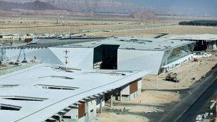 بناء مطار رامون الدولي الجديد في جنوب اسرائيل، 2 يناير 2018 (Moshe Shai/Flash90)