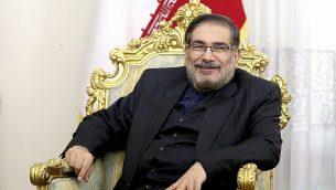 أمين المجلس الأعلى للأمن القومي الإيراني، علي شمخاني، في طهران، إيران، 17 يناير، 2017.  (Ebrahim Noroozi/AP)