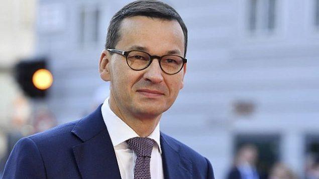 رئيس الوزراء البولندي ماتيوس مورافسكي يصل إلى قمة غير رسمية للإتحاد الأوروبي في مدينة سالزبورغ النمساية، 20 سبتمبر، 2018. (AP Photo/Kerstin Joensson)