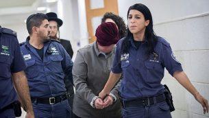 مديرة المدرسة الأسترالية السابقة مالكا ليفير، وهي مطلوبة في وطنها أستراليا لجرائم الإعتداء الجنس ضد الأطفال، في محكمة مدينة القدس، في 14 فبراير، 2018. (Yonatan Sindel / Flash90)