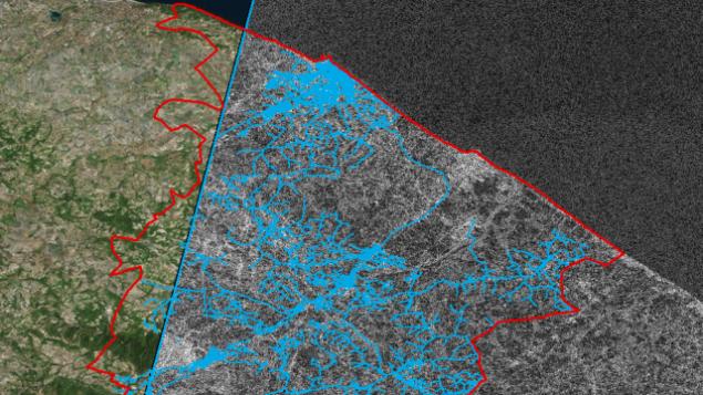"""الشركة الإسرائيلية الناشئة """"أوتيليس"""" تستخدم صور الأقمار الصناعية للكشف عن تسرب المياه ومنعه (Courtesy)"""