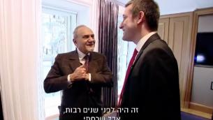 Twitter screenshotالامير تركي بن فيصل بن سعود في مقابلة مع براك رافيد من القناة 13 الإسرائيلية