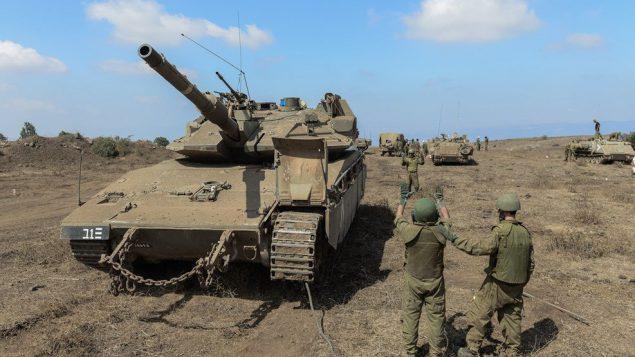 جنود اسرائيليون يشاركون بتدريب في مرتفعات الجولان، اغسطس 2018 (Israel Defense Forces)