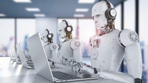 صورة توضيحية لروبوتات وذكاء اصطناعي. (PhonlamaiPhoto; iStock by Getty Images)