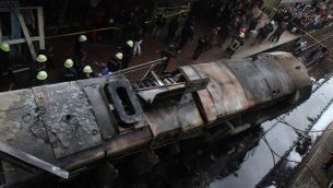 ساحة الحادث الذي شهدته محطة رمسيس للقطارات في القاهرة في 27 فبراير 2019 (STRINGER / AFP)