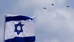 طائرات اف-35 اسرائيلية خلال عرض بمناسبة يوم الاستقلال ال69 لإسرائيل في تل ابيب، 2 مايو 2017 (AFP Photo/Jack Guez)