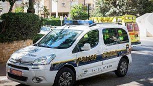 صورة توضيحية: سيارة تابعة للشرطة إسرائيلية (Roy Alima / Flash90)