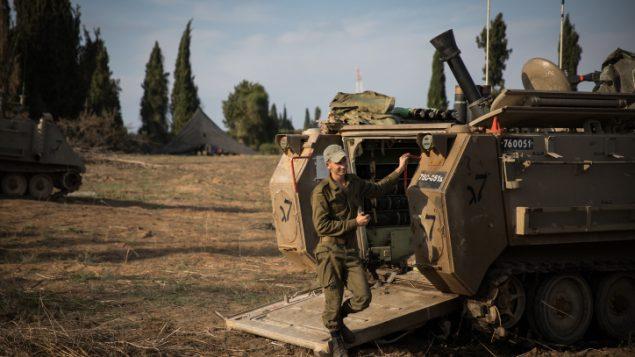صورة توضيحية: القوا تالإسرائيلية تتجمع في جنوب اسرائيل في اعقاب اشتباكات في قطاع غزة، 13 نوفمبر 2018 (Hadas Parush/Flash90)