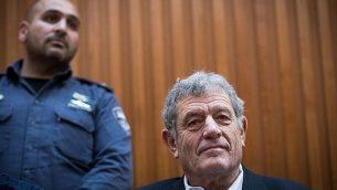 ميكي غانور يحضر جلسة استماع في المحكمة العليا في القدس في 22 مارس 2019. (Yonatan Sindel / Flash90)