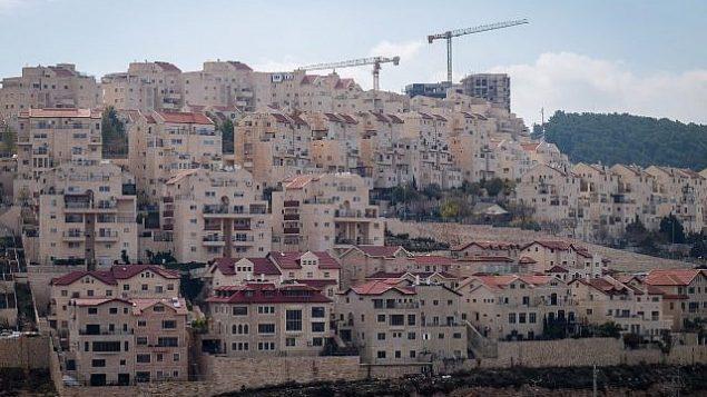 صورة لمنازل في مستوطنة إفرات في 27 نوفمبر 2018. (Gershon Elinson/Flash90)