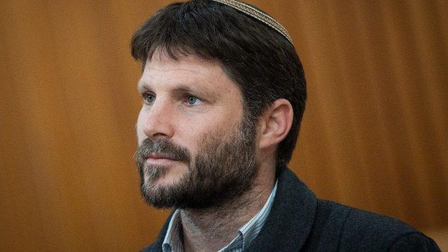 رئيس قائمة 'المعسكر الوطني'، عضو الكنيست بتسلئيل سموتريش في المحكمة العليا في القدس، 27 مارس 2019 (Yonatan Sindel/Flash90)