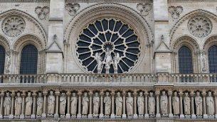 'معرض الملوك' على الواجهة الغربية لكاتدرائية نوتردام. (CC BY Serge Melki/Wikimedia Commons)