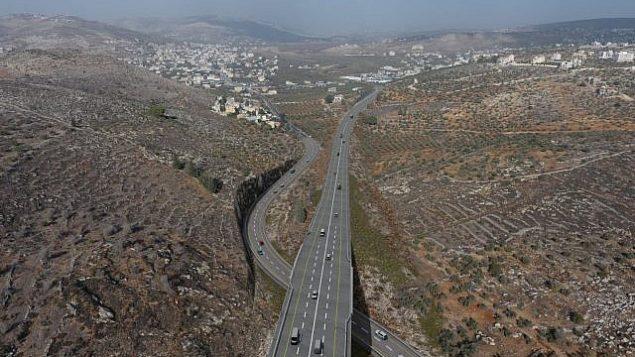 الخطة الرقمية للطريق الالتفافي حوارة (الطريق العلوي) في شمال الضفة الغربية. (Yesha Council)
