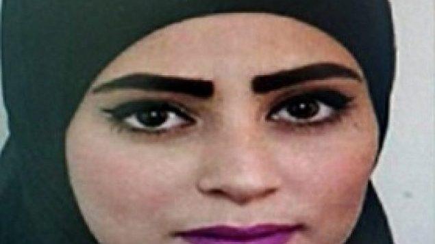 نجلاء العموري (19 عاما)، التي عُثر على جثتها في وسط إسرائيل، 28 أبريل، 2019. (Courtesy)