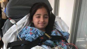 نويا دهان، طفلة اسرائيلية اصيبت في هجوم اطلاق نار داخل كنيس في سان دييغو، كاليفورنيا في 27 ابريل 2019 (Courtesy)