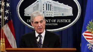 المحقق الخاص روبرت مولر في وزارة العدل في واشنطن، 29 مايو 2019 (AP Photo/Carolyn Kaster)