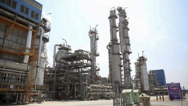 مصنع البتروكيماويات في برديس الإيرانية، 4 سبتمبر 2018 (Iranian Presidency Office via AP)