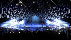المنصة المخططة لمسابقة يوروفيجن 2019 في تل ابيب (Courtesy Eurovision 2019)