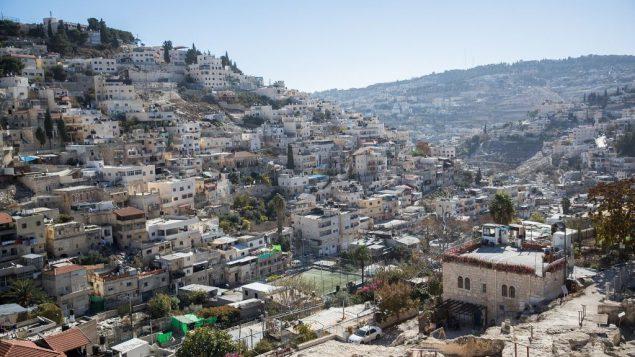 حي سلوان في القدس الشرقية، 3 ديسمبر 2017 (Yonatan Sindel/Flash90)