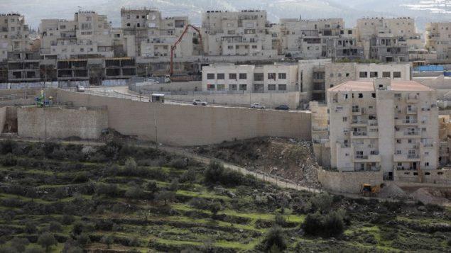 مستوطنة بيتار عيليت الإسرائيلية في الضفة الغربية، 14 فبراير 2018 (MENAHEM KAHANA/AFP)
