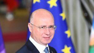 رئيس وزراء مولدوفا بافل فيليب في مقر الاتحاد الاوروبي في بروكسل، 24 نوفمبر 2017 (Emmanuel Dunand/AFP)