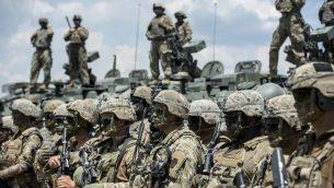 صورة توضيحية: جنود امريكيون خلال تدريب عسكري، 17 يونيو 2019 (Robert ATANASOVSKI / AFP)