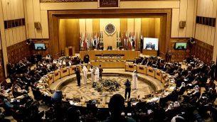 توضيحية: وزراء الخارجية العرب يلتقون في مقر جامعة الدول العربية في القاهرة، مصر، 19 نوفمبر، 2017. (AP Photo/Nariman El-Mofty)