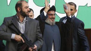 قائد حزب الله حسن نصر الله في بيروت، 17 سبتمبر 2012 (