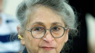 نحاما ريفلين، زوجة الرئيس رؤوفن ريفلين، 16 يونيو 2016 (Moshe Shai/FLASH90)