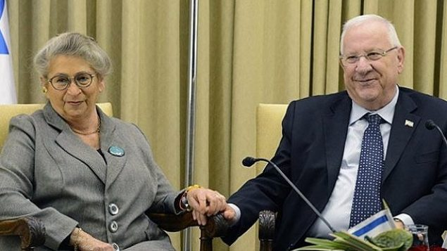 رئيس الدولة رؤوفين ريفلين وزوجته، نحاما ريفلين. (GPO)