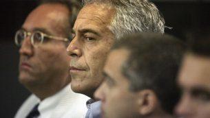 جيفري إبستين، معتقل في بالم بيتش، فلوريدا، 30 يوليو 2008 (Uma Sanghvi/Palm Beach Post via AP, File)
