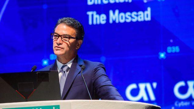 مدير الموساد يوسي كوهن خلال مؤتمر امن الكتروني في جامعة تل ابيب، 24 يونيو 2019 (Flash90)