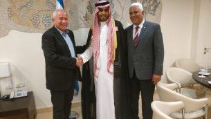 عضو الكنيست من الليكود آفي ديختر يلتقي المدون السعودي محمد سعود، 22 يوليو 2019 (Knesset Spokesperson's Office)