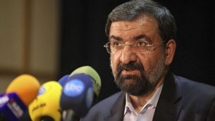 القائد السابق للحرس الثوري الإيراني، محسن رضائي. (photo credit: AP Photo/Vahid Salemi)