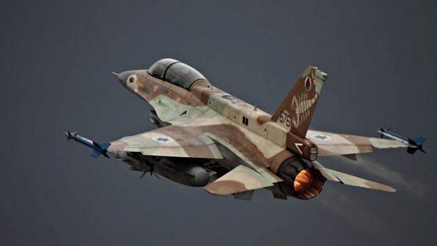 توضيحية: طائرة 'اف 16' إسرائيلية خلال إقلاعها.  (Ofer Zidon/Flash90)