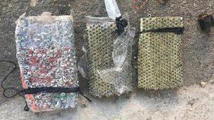 قنبلة تحتوي على شظايا معدينة صنعها أحد عناصر حركة حماس في مدينة الخليل بالضفة الغربية بهدف استخدامها في هجوم تم التخطيط له في القدس، والتي عثرت عليها القوات الإسرائيلية وقامت بإبطال مفعولها في يونيو 2019.  (Shin Bet)